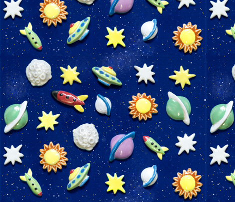 space_paper fabric by buttonmad on Spoonflower - custom fabric