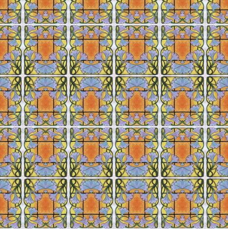 morning  glory checks fabric by edsel2084 on Spoonflower - custom fabric