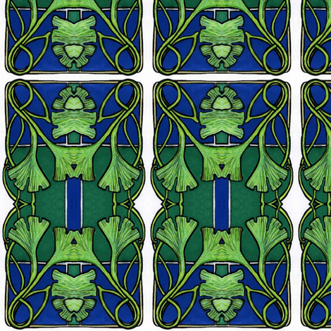 Ginkgo Church Window fabric by edsel2084 on Spoonflower - custom fabric