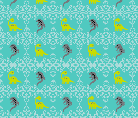 dinosaur fabric by hype_strype_by_angie_avard_turner on Spoonflower - custom fabric