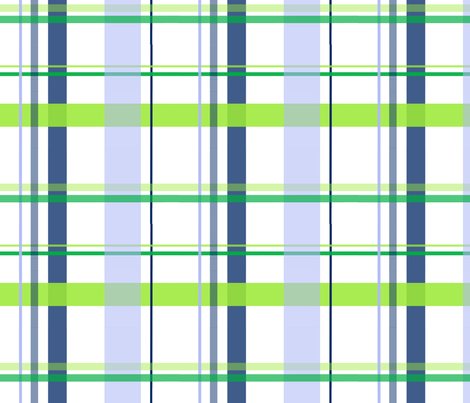 alli_plaid_blue fabric by olioh on Spoonflower - custom fabric