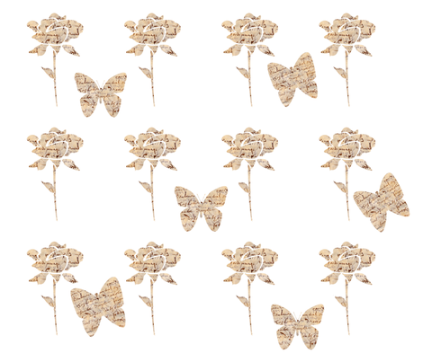french script rose garden fabric by karenharveycox on Spoonflower - custom fabric