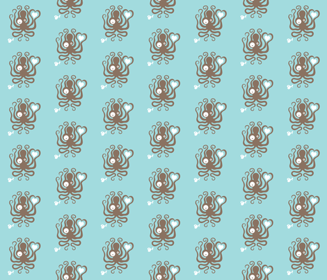 octolove fabric by vuchy on Spoonflower - custom fabric
