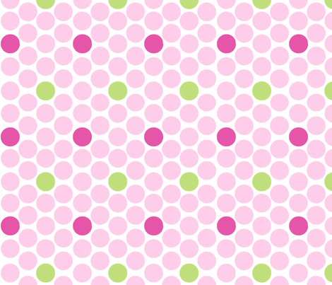 alli_dots_pink fabric by olioh on Spoonflower - custom fabric