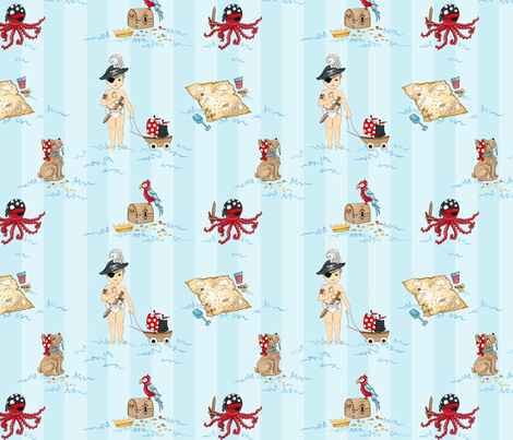Playing Pirates fabric by fischtaledesigns on Spoonflower - custom fabric