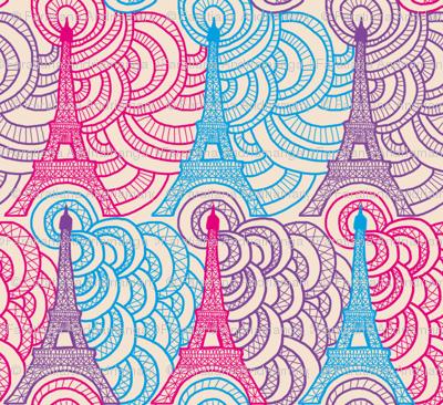 Tour Eiffel en dentelles