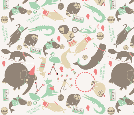 theamazinganimals fabric by elenarial on Spoonflower - custom fabric