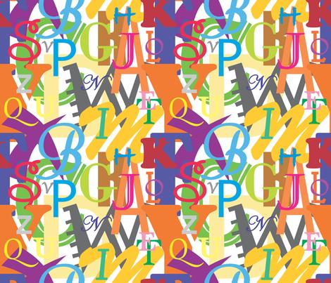 Alphabet_2 fabric by illustrative_images on Spoonflower - custom fabric