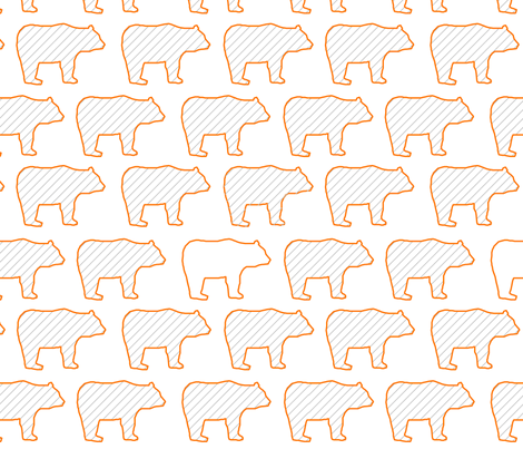 baby bears marching fabric by robiniahill on Spoonflower - custom fabric