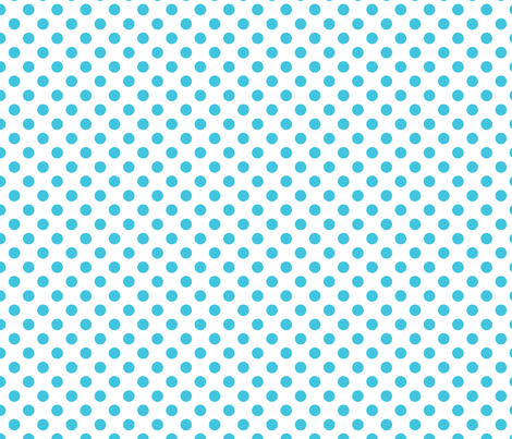 pois_turquoise_fond_blanc fabric by nadja_petremand on Spoonflower - custom fabric