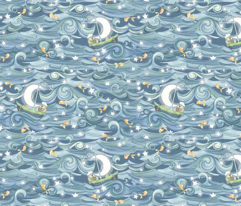 Sea of Stars fabric by nicoletamarin on Spoonflower - custom fabric