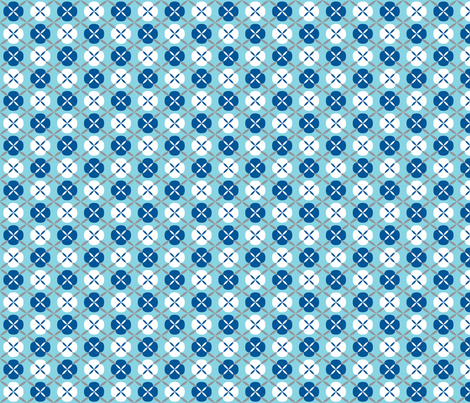 Oh Boy! Almost Argyle Blue fabric by melaniesullivan on Spoonflower - custom fabric