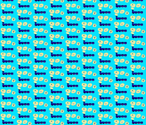 Thinking train fabric by magneetje on Spoonflower - custom fabric
