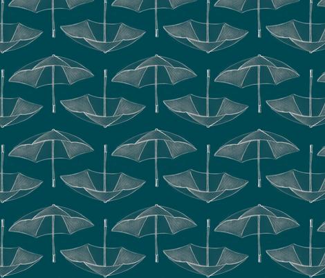 Umbrella_Storm__teal_ fabric by nightgarden on Spoonflower - custom fabric