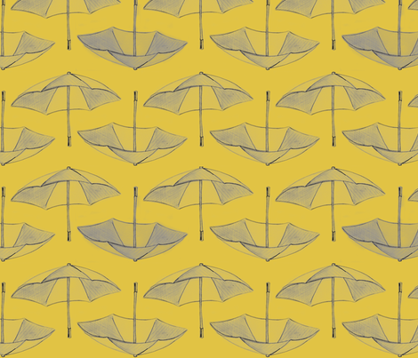 Umbrella_Storm__sand_ fabric by nightgarden on Spoonflower - custom fabric
