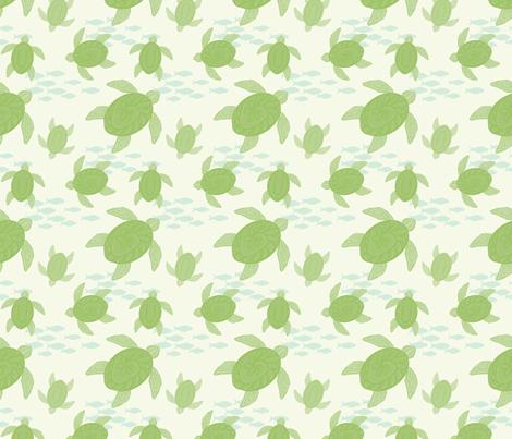 Sea Turtles fabric by cilla on Spoonflower - custom fabric