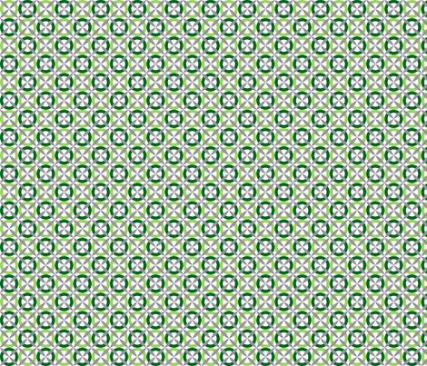 Oh Boy! XOXO Green fabric by melaniesullivan on Spoonflower - custom fabric