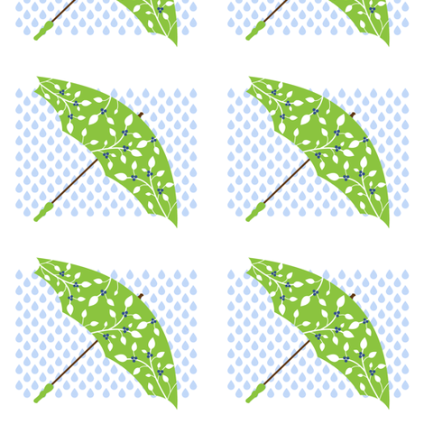 Blueberry Brolly fabric by stacysix on Spoonflower - custom fabric