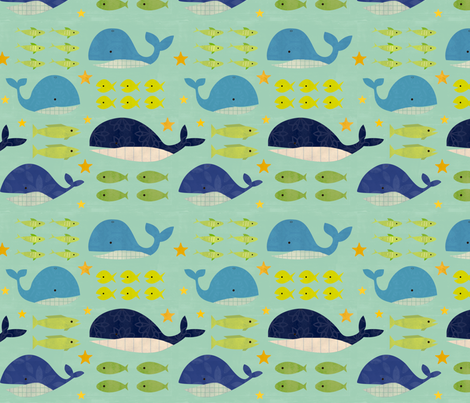 Big Fish, Little Fish fabric by jenimp on Spoonflower - custom fabric