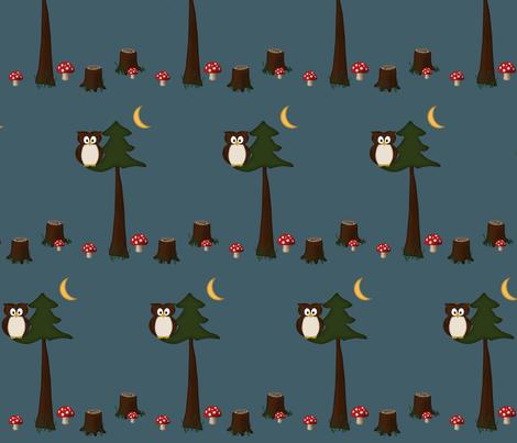 into_the_woods_fabric_copy fabric by dclaridge on Spoonflower - custom fabric