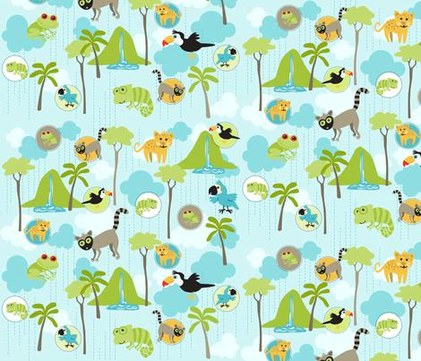 Rain Forest Babies fabric by bzbdesigner on Spoonflower - custom fabric