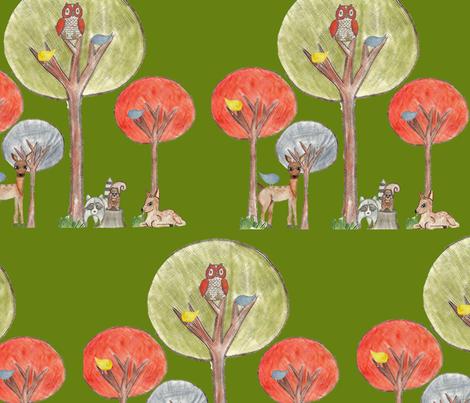 Baby Woodland fabric by graydensmama on Spoonflower - custom fabric