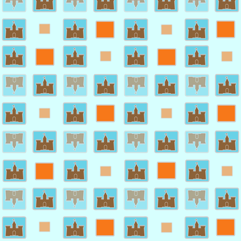 Small Print Castles fabric by meticulous_sarah on Spoonflower - custom fabric