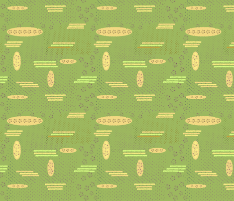 Spring Green Abstract fabric by petals_fair_-_peggy_brown on Spoonflower - custom fabric