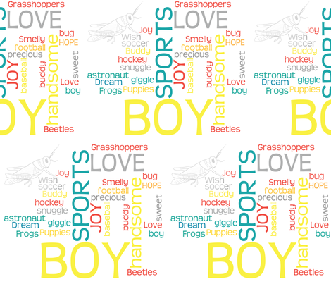 Words of Love for my boys fabric by gpantz on Spoonflower - custom fabric