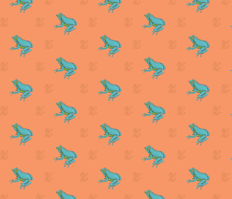 Frogs and Snails fabric by coveredbydesign on Spoonflower - custom fabric