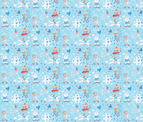 pattern_baby_boy_1 fabric by crovatto on Spoonflower - custom fabric