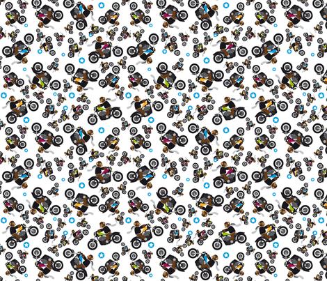 Bears on Harleys fabric by karin_s on Spoonflower - custom fabric