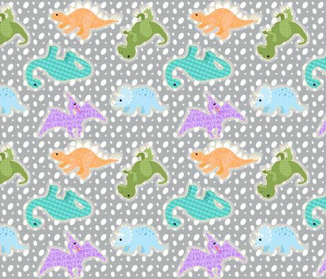 dinosaur eggs fabric by mytinystar on Spoonflower - custom fabric