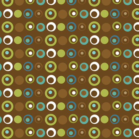 Deviated Dots - Brown fabric by ejrippy on Spoonflower - custom fabric