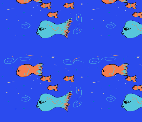 fishy business! fabric by vivianprice on Spoonflower - custom fabric