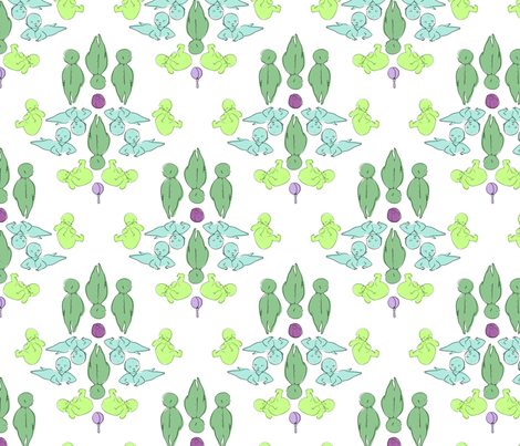 baby boy damask smaller fabric by alys-kate on Spoonflower - custom fabric