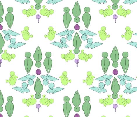 baby boy damask fabric by alys-kate on Spoonflower - custom fabric