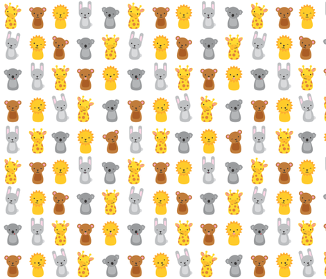 Animals fabric by ankepanke on Spoonflower - custom fabric