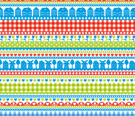 Dutch fabric by ankepanke on Spoonflower - custom fabric