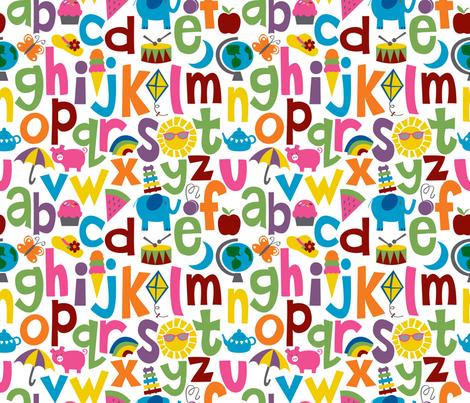 Alphabetical fabric by melaniesullivan on Spoonflower - custom fabric