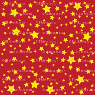 Happy Stars (red)