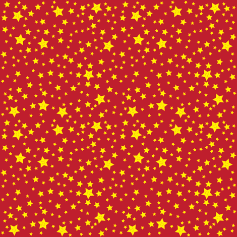 Happy Stars (red) fabric by robyriker on Spoonflower - custom fabric