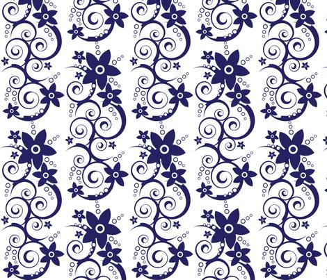 Swirly Flowers fabric by robyriker on Spoonflower - custom fabric