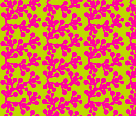 In the Wild - Blooming Pink fabric by hayley_sayles on Spoonflower - custom fabric