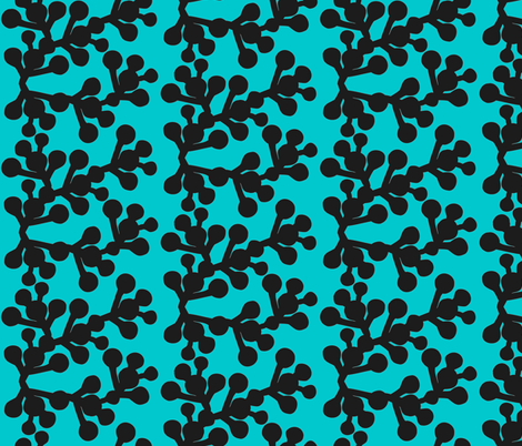 In the Wild - Blooming Blue fabric by hayley_sayles on Spoonflower - custom fabric