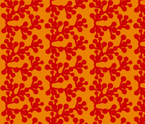 In the Wild - Blooming Red fabric by hayley_sayles on Spoonflower - custom fabric