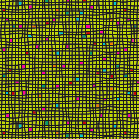 Wacky Weave - Chartreuse fabric by hayley_sayles on Spoonflower - custom fabric