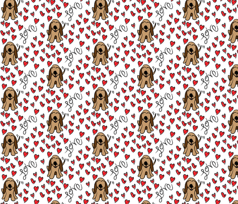 Lovable Hound fabric by robyriker on Spoonflower - custom fabric