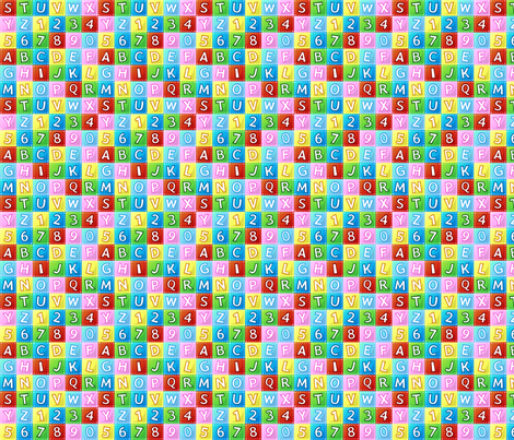 Alphabet & Numbers fabric by andybauer on Spoonflower - custom fabric