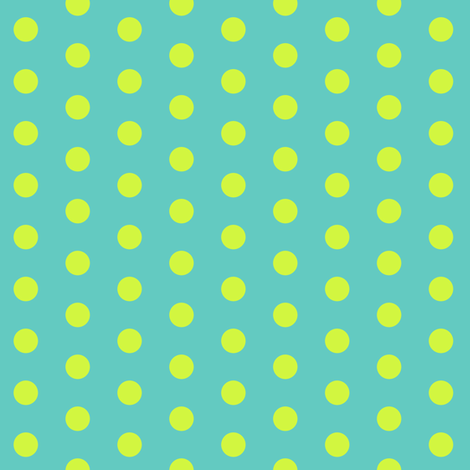 Lime Polkadot fabric by pond_ripple on Spoonflower - custom fabric